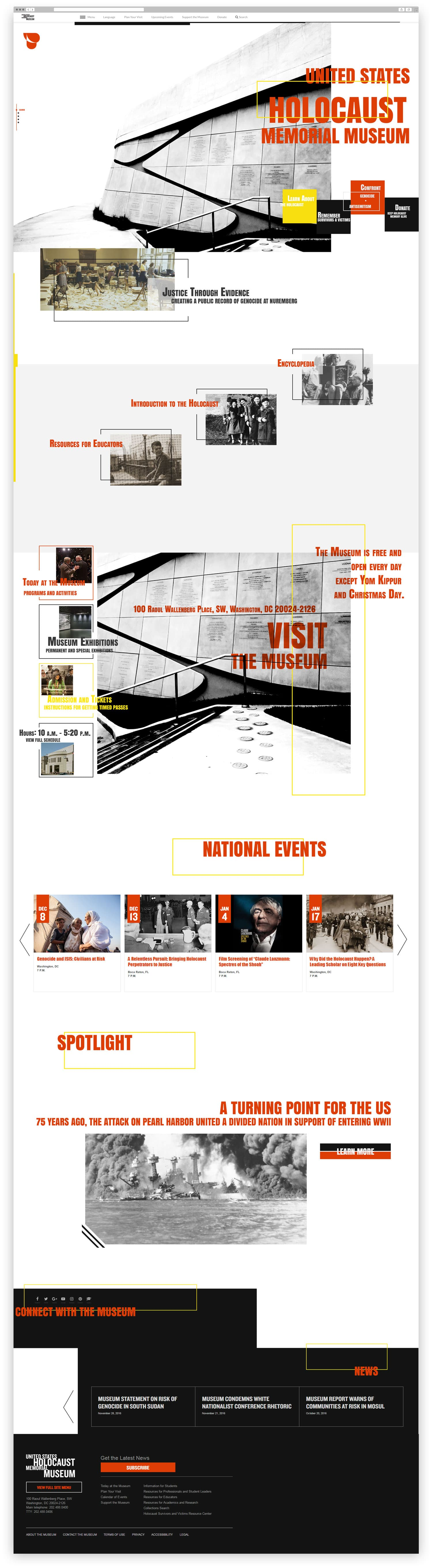 USHMM full front web page final design