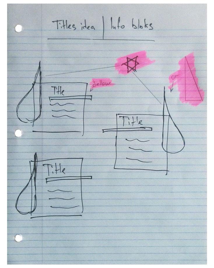 Tears section design idea