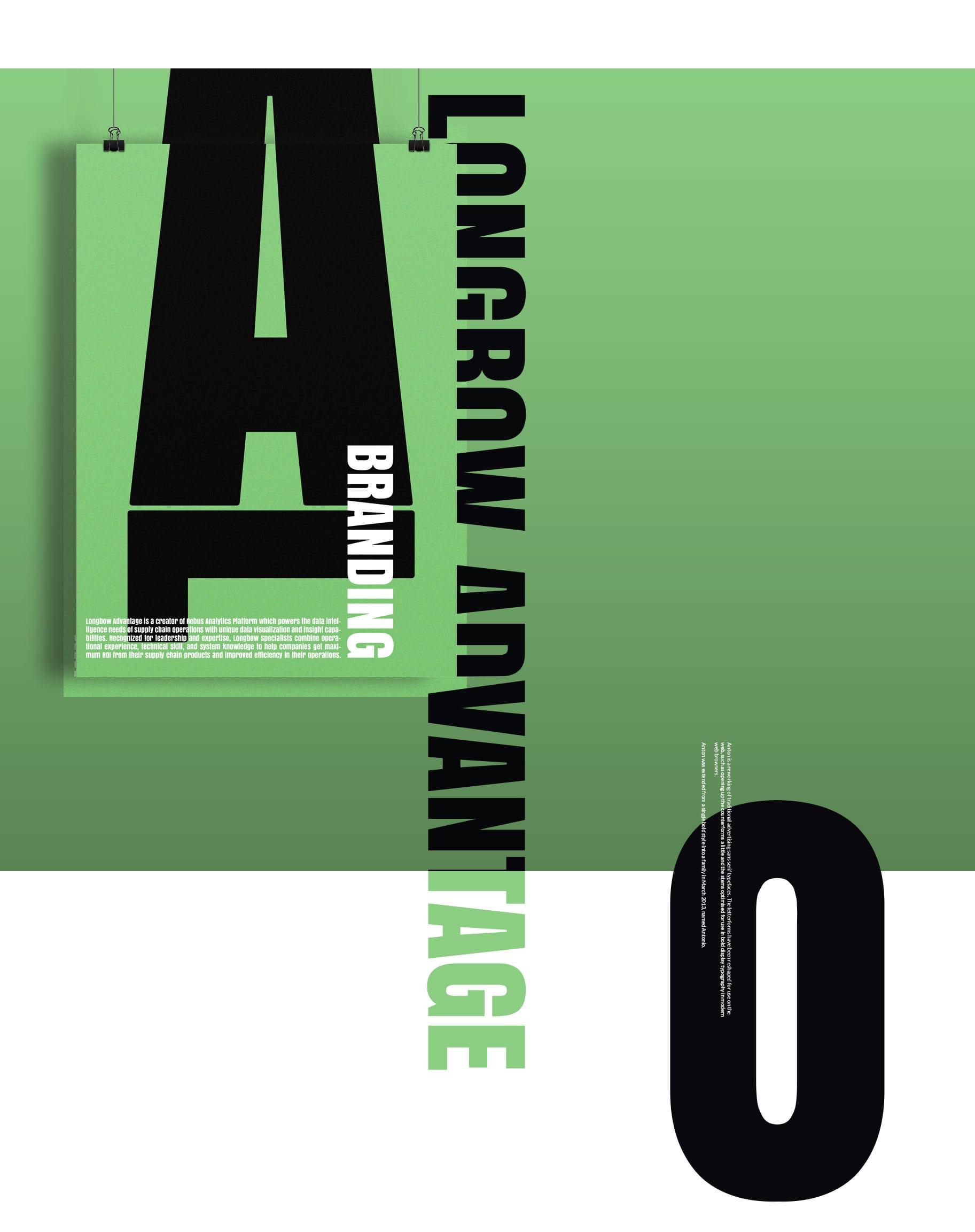 Branding. Poster for Longbow Advantage